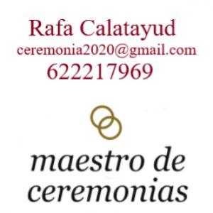 Maestro de Ceremonias presta servicio en la subcategoría de Maestros de Ceremonias, Oficiantes y Presentadores en Alicante