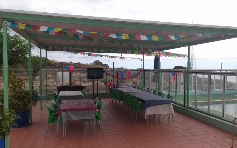 Gran terraza para cualquier tipo de evento,celebramos cumpleaños infantiles