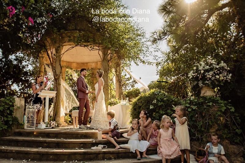 Ceremonia en el jardín encantado