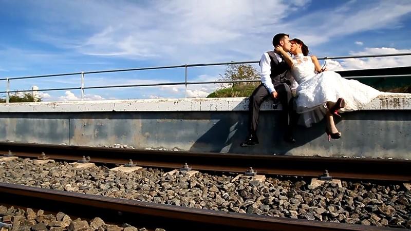 Frame de video de boda