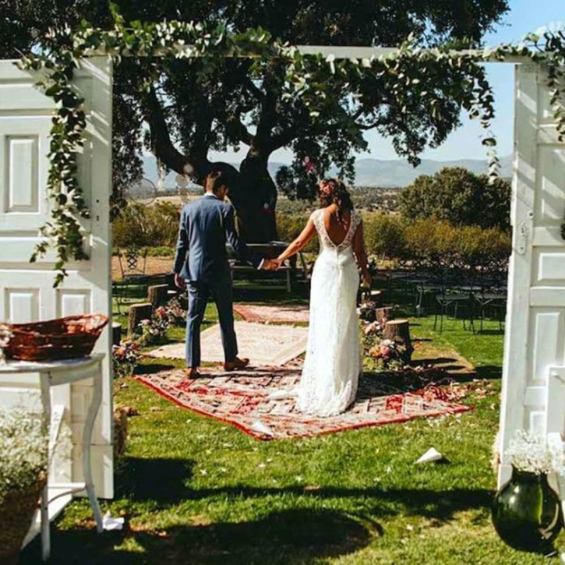 Ceremonia finca boda exterior