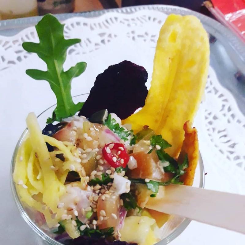 Ceviche de Rape en su ensalada exotica fresquissima!