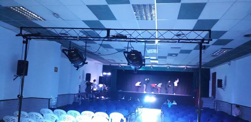 Instalación de sonido e iluminación para festival de danza
