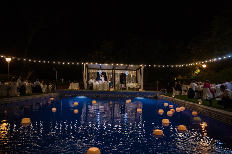Banquete Jardin piscina