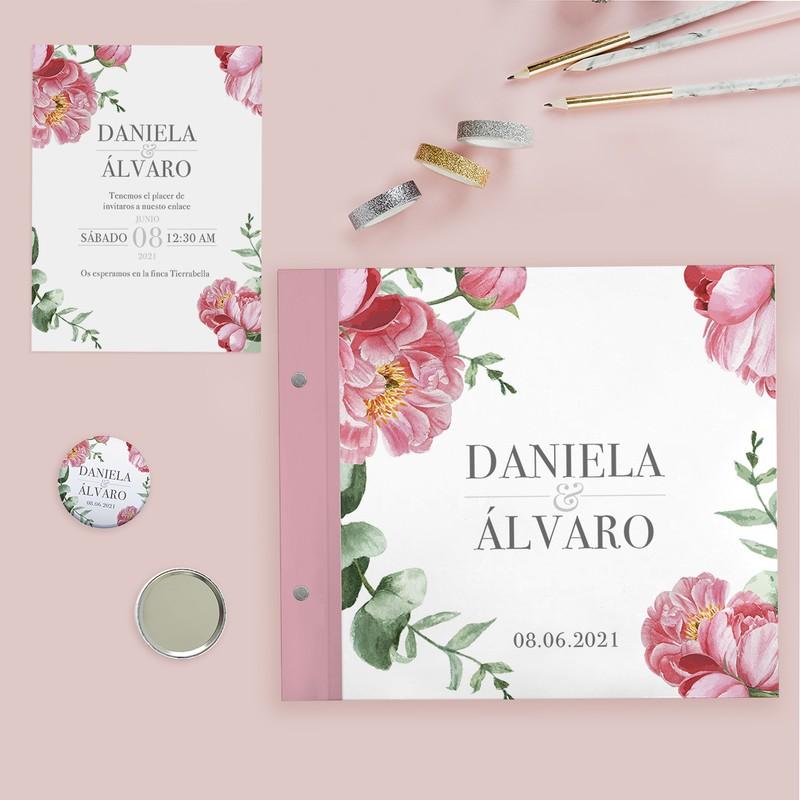 Invitaciones boda, libro de firmas, detalles invitados