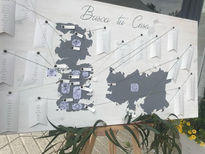 Seatingplan diseño de boda sin dejar ningún detalle al aire