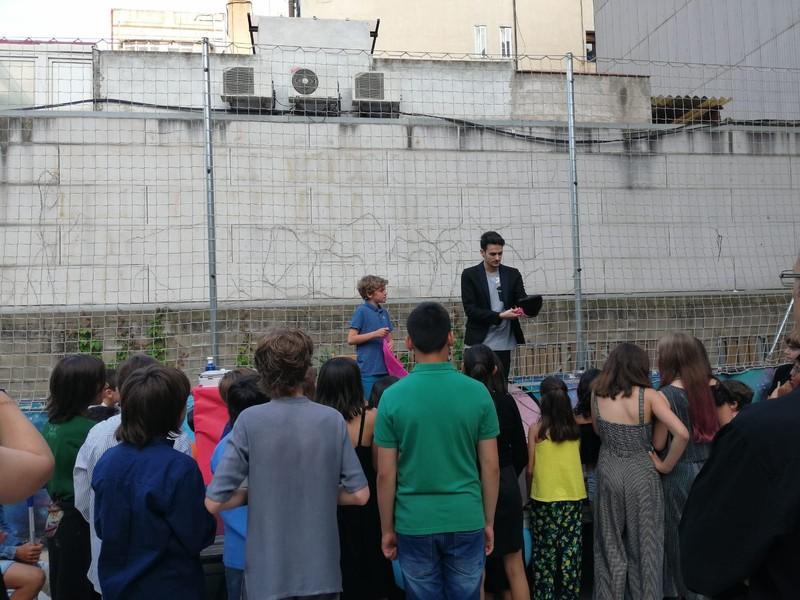 Magia para niños de 6º de primaria de un cole de Barcelona.